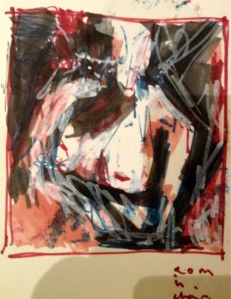 Day 8 Auerbach study in front of EOW nude - my felt tip set needs yellow!