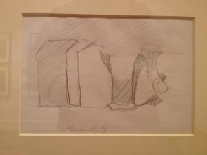 Morandi pencil drawing