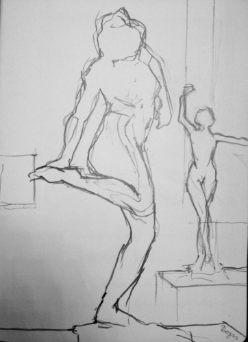 drawing from Degas