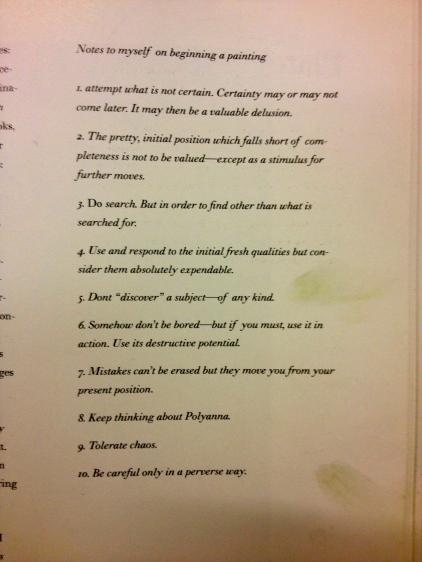 Diebenkorn's 'Notes to myself ...'