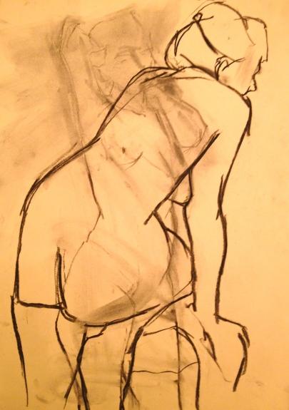 Prince's Drawing School quick pose 20 Feb