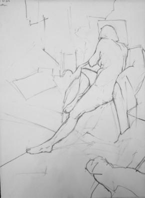Prince's Drawing School morning pose 20 Feb