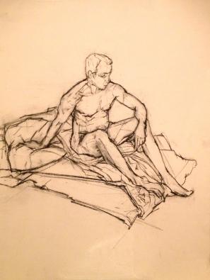 Prince's Drawing School morning pose 27 Feb