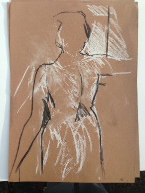 Life Class study Charcoal and chalk 30 x 50 cm 2013