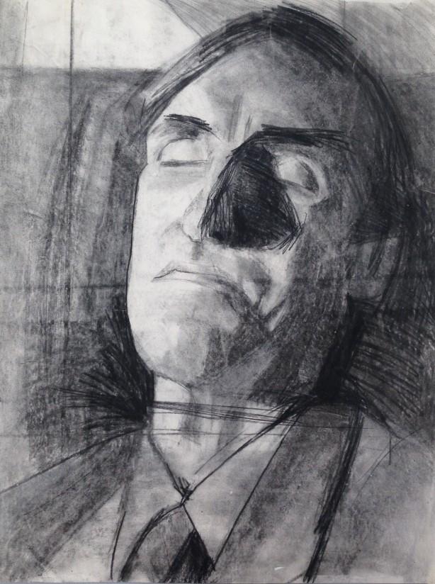 Commuter by JONATHAN ELLIS charcoal 1984
