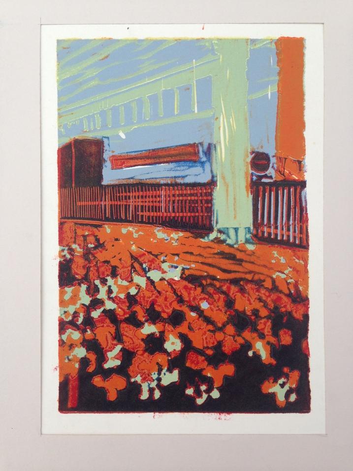 Green Park JONATHAN ELLIS Linocut 15 x 25 cm