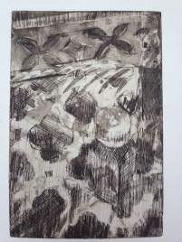 shelf JONATHAN ELLIS Aquatint etching 1987