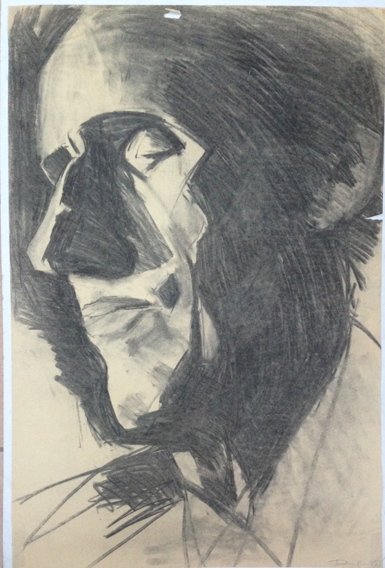 Commuter by JONATHAN ELLIS charcoal 1984