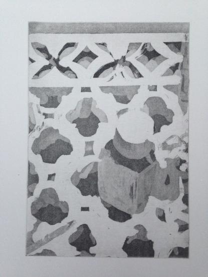 Large Shelf JONATHAN ELLIS Aquatint etching 1987