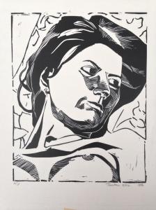 In Black & White JONATHAN ELLIS Linocut 30.5 x 24.5 cm 1986