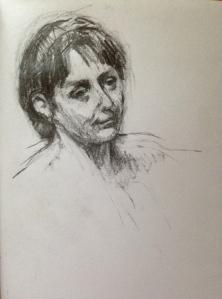 Woman's Head JONATHAN ELLIS 14 x 10 cm 10 March 2014