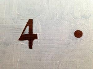 DATE (detail 2) JONATHAN ELLIS oil on canvas April 2014