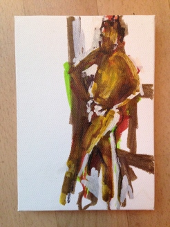 Life Class 2 on canvas board 23 June 2014