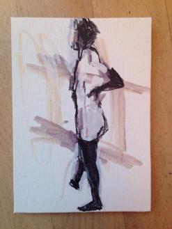 Life Class 4 on canvas board 23 June 2014 POA