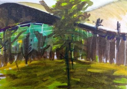 London Aquatics Centre 1 JONATHAN ELLIS Promarker drawing on canvas board 7 x 5 in 11 July 2014