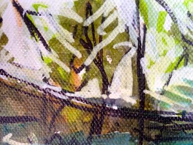 Velodrome 1 (detail) JONATHAN ELLIS Promarker drawing on canvas board 7 x 5 in 11 July 2014