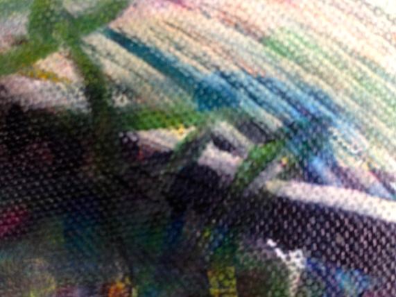 London Aquatics Centre 2 (detail) JONATHAN ELLIS Promarker drawing on canvas board 7 x 5 in 11 July 2014