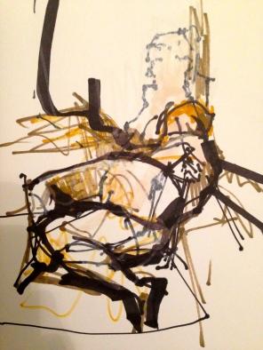 Sketchbook study 2 JONATHAN ELLIS Promarker on paper 14 July 2014