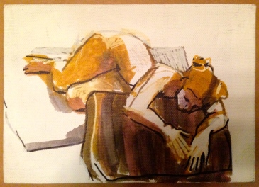 Lit JONATHAN ELLIS Promarker on canvas board 14 July 2014 POA