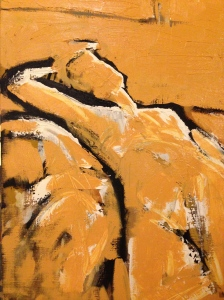 JONATHAN ELLIS Reclining Nude (stage v) oil on canvas 45 x 70 cm 1 March 2014