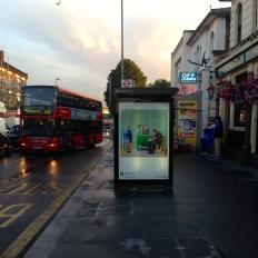 art everywhere: Hockney in Lea Bridge Road, Walthamstow Hockney's parents waiting for the bus