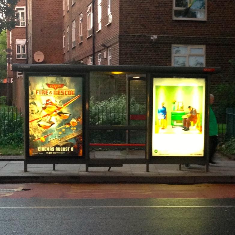 art everywhere: Hockney in Adley Street, Hackney Hockney's parents vs cinema poster