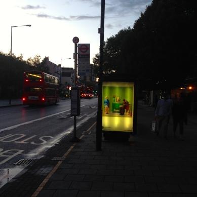 art everywhere: Hockney in Millfields Road, Hackney points of light Hockney Hackney