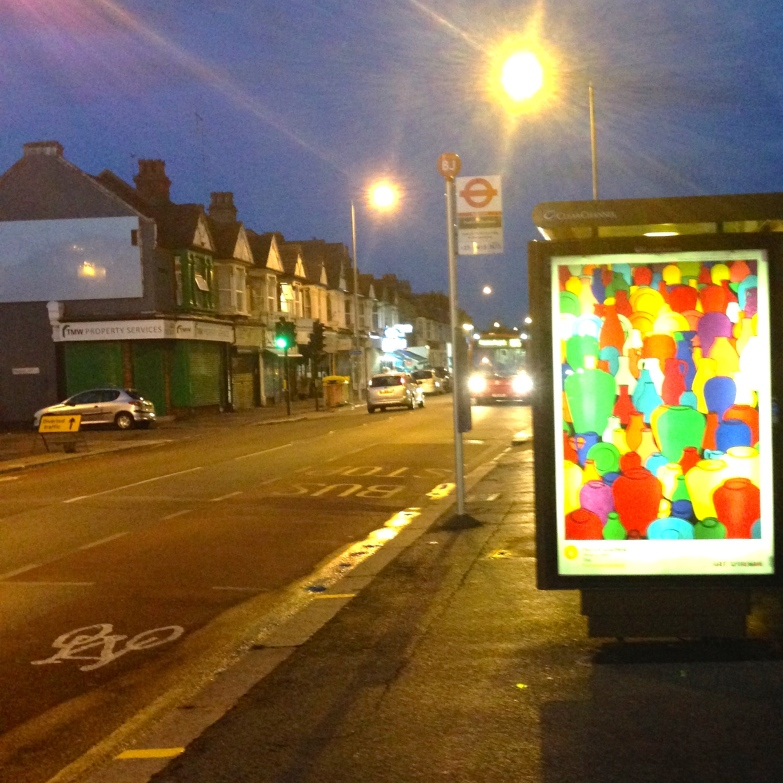 art everywhere: Caulfield in Pretoria Avenue, E17 The sign on the left contains the letters of 'precise pottery'