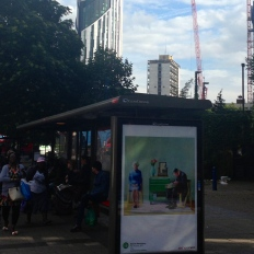 art everywhere: Hockney in London Road, Elephant & Castle: a little of Yorkshire in London