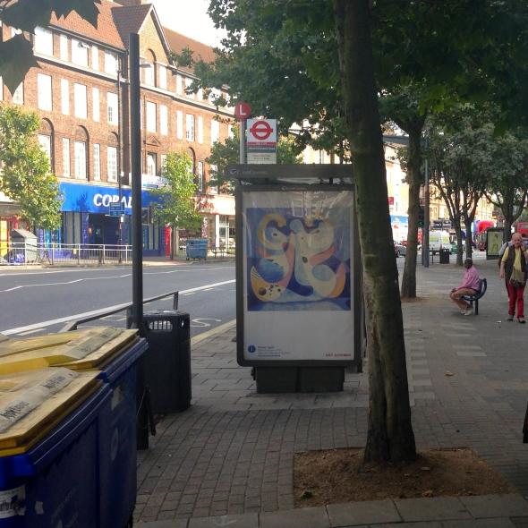 art everywhere: Agar in Westmoreland Road, SE17 colour-coded bins