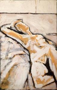 JONATHAN ELLIS Reclining Nude oil on canvas 45 x 70 cm 18 August 2014