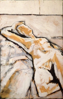 JONATHAN ELLIS Reclining Nude oil on canvas 45 x 70 cm 18 August 2014