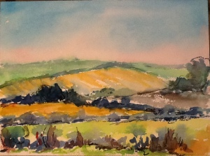 Wiltshire TATS GUTHRIE watercolour 22 July 2014 POA