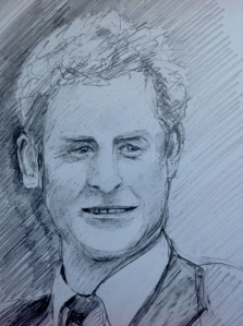 Prince Harry GILL ROWE Pencil 14 x 16 cm September 19, 2014