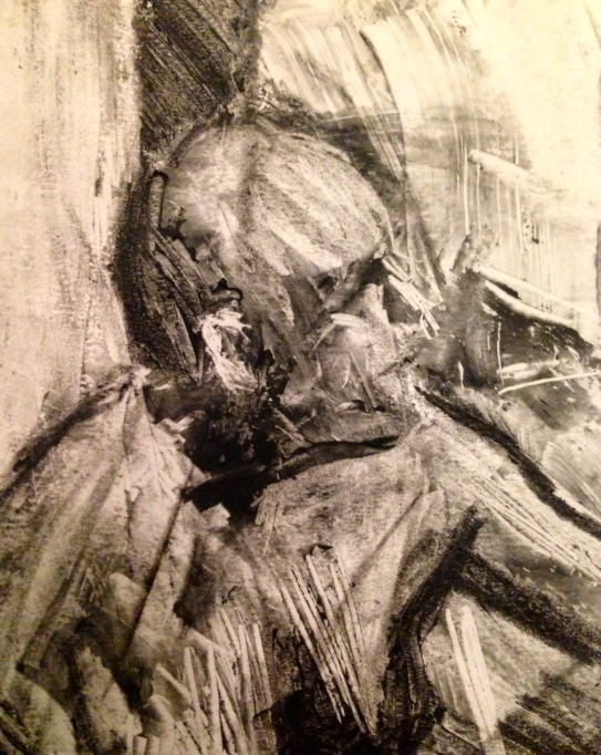 Barrie (detail) JONATHAN ELLIS Charcoal and colourless oilbar 8th September 2014