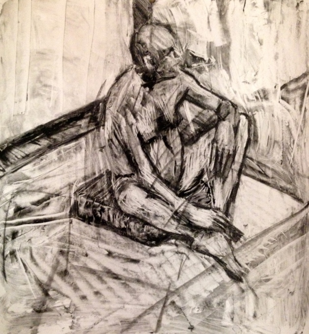 Barrie JONATHAN ELLIS Charcoal and colourless oilbar 8th September 2014