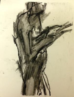 Barrie 3 JONATHAN ELLIS charcoal and colourless oilbar 8th September 2014