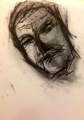 Lines and marks MANDY WRIGHT charcoal and pro marker 14 September 2014