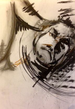 Marks and Lines EMMA JHITA Charcoal and pro marker 14 September 2014
