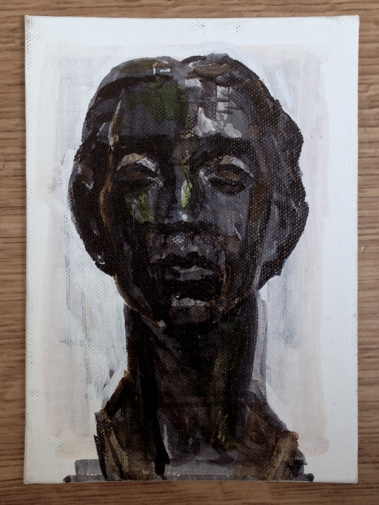 Head of a Woman by Maurice Lambert JONATHAN ELLIS promarkers on canvas board 21 September 2014