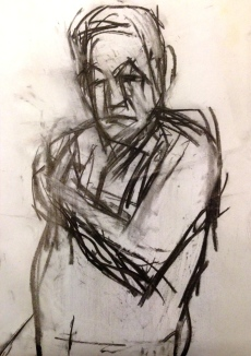 Michael 1 JONATHAN ELLIS charcoal on paper