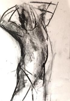 Michael 2 JONATHAN ELLIS charcoal on paper