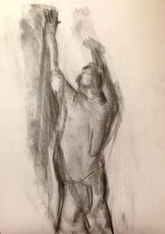 Michael 3 JONATHAN ELLIS charcoal on paper