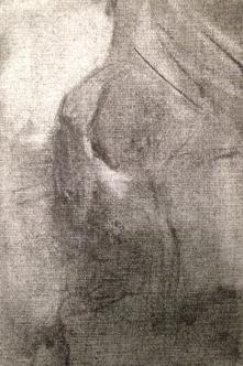 Michael 5 JONATHAN ELLIS charcoal on canvas board
