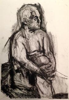 Michael JONATHAN ELLIS charcoal & oil bar on paper