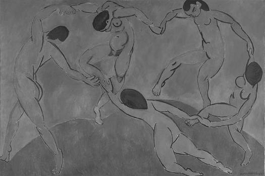 Dance (b/w) Henri Matisse Oils 1910