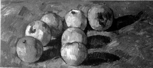 Still Life with Seven Apples (b/w) Paul Cezanne Oils 1878