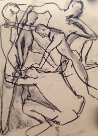 Richard dancing GILL charcoal Wednesday 1 October, 2014