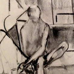 Richard (detail) JACQUIE charcoal Wednesday 8 October, 2014