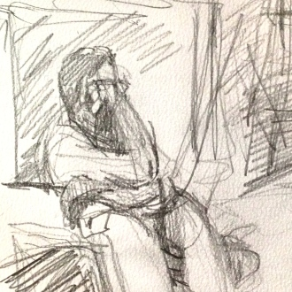 Richard 3 (detail) IONA pencil Wednesday 8 October, 2014